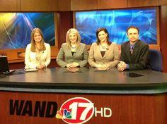 WAND TV midday news team Samantha Singer,  Stacy Skryshak, Dawn Sterling and…
