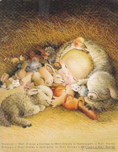 Christmas Nativity, 1st Christmas, Xmas, Forest People, Walt Disney, Vintage Christmas Cards, Skull Art, Art Activities, Happy Day