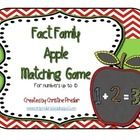 Freebie - This is an apple-themed fact family matching game for numbers up to 10.  It includes 42 math fact cards plus a sheet of blank cards for students to...
