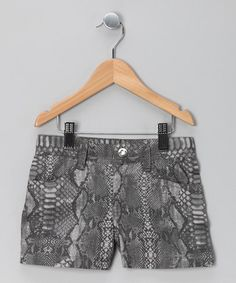 Take a look at this Charcoal Python Shorts by 21st Century Girl on #zulily today!