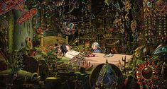 """morbidmegz: """"ghiblibgs: """"Howl's bedroom - Howl's Moving Castle - dir. Hayao Miyazaki """" This is one of the most beautiful films ever drawn. Studio Ghibli Art, Studio Ghibli Movies, Howl Movie, Wallpaper Horizontal, Animal Crossing, Howls Moving Castle Wallpaper, Hayao Miyazaki, Art Pictures, Art Inspo"""