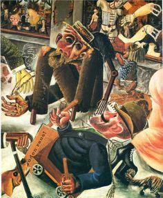 Otto Dix (German 1891–1969) [Expressionism, Neue Sachlichkeit] Pragerstrasse, 1920. Staatsgalarie, Stuttgart, Germany.