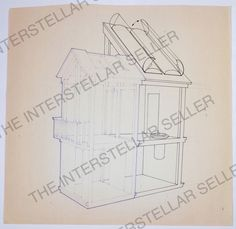 Rare! Original 70's Mattel Barbie Dream House Concept Art Blueprint Vintage Doll