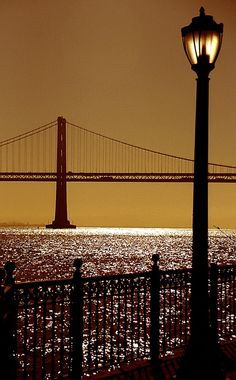 The Bay Bridge view from Pier 7, San Francisco - California