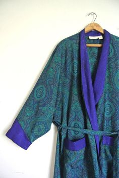 RARE MEN'S Vintage VICTORIA'S SECRET ROBE / Dressing Smoking Kimono MED Sissy #VictoriasSecret