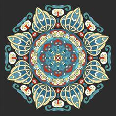 Beautiful colorful mandala. Decorative ornamental element. Vector illustration