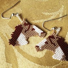 This Beaded ponies horses seed bead pony earrings handmade is just one of the custom, handmade pieces you'll find in our dangle & drop earrings shops. Etsy Earrings, Earrings Handmade, Bead Earrings, Handmade Jewelry, Bead Loom Patterns, Beaded Jewelry Patterns, Native Beading Patterns, Seed Bead Jewelry, Seed Beads