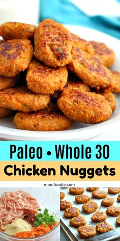 Paleo Whole 30 Chicken Nuggets with Sweet Potato . - Recipes from Mom Foodie - Paleo Whole 30 Chicken Nuggets with Sweet Potato . - Recipes from Mom Foodie - Whole Foods, Whole 30 Diet, Paleo Whole 30, Whole Food Recipes, Diet Recipes, Cooking Recipes, Paleo Recipes Dinner Chicken, Whole 30 Chicken Recipes, Egg Recipes