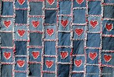 Rag heart denim quilt. I love this quilt