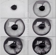 Eye drawing tutorial // so realistic 😍 // credit: unknown Eye Drawing Tutorials, Drawing Techniques, Art Tutorials, Drawing Sketches, Cool Drawings, Pencil Drawings, Drawing Tips, Iris Drawing, Drawing Ideas