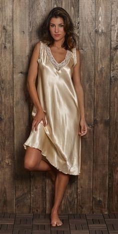 The Emergence of Silk Lingerie Satin Underwear, Lace Lingerie Set, Pretty Lingerie, Beautiful Lingerie, Women Lingerie, Pyjama Satin, Satin Sleepwear, Nightwear, Satin Gown