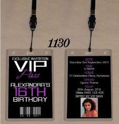 1130jpg Printable Birthday Party Ticket Theme Party Invitations Templates VIP…