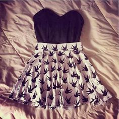 Causal teen outfit black and white soo adorable!