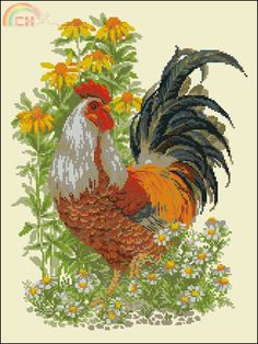 Image result for Anchor rooster cross stitch pattern                                                                                                                                                      More