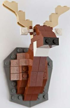 Animal Toy Taxidermy - David Cole Creates Cute LEGO Kits for Adults