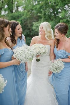 Bridesmaids in Blue | Chic and Classic Wedding Day | Vicki Bartel Photography | Bridal Musings Wedding Blog