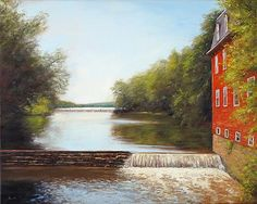 Kingston Mill II - Landscape Paintings by Joe Kazimierczyk