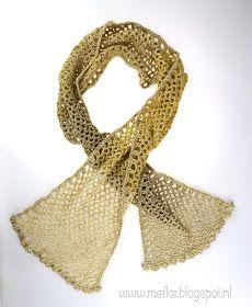 Mafke: simpele sjaal haken Crochet Scarves, Crochet Shawl, Crochet Hooks, Knit Crochet, Paracord, Mittens, Scarf Wrap, Projects To Try, Knitting