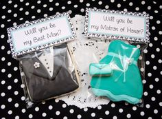 Will You Be My Bridesmaid/Groosman Cookie Gift, Favor. Customized to match your bridal party's attire 1 DOZEN
