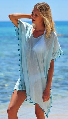 Womens Beach Cover ups Tassel Bikini Beachwear Bathing Suit Swimwear Cover up Dress Mode Abaya, Beach Kaftan, Beach Cover Ups, Beach Attire, Swimsuit Cover Ups, Seafolly, Stripes Fashion, Bikini, Beach Dresses