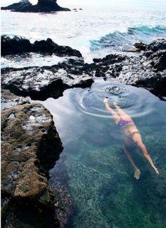 Daily swim in the ocean Jupiter Florida