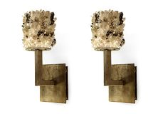 quartz sconces designed by Tish Mills for Studio B5B Collection