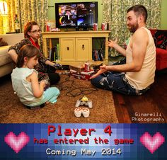 Baby announcement #babyannouncement #baby #pregnant #pregnancy #videogame #family #funny #ginarelliphotography