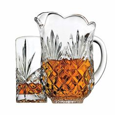 drink set with pitcher and four high balls. Classic Irish design combines sparkling wedge and diamond cuts. To avoid any confusion Crafted from 24 percent lead crystal for heavy weight and brilliance. Whisky, Mugs, Drinks, Classic, Ebay, Drink, Crystal, Whiskey, Cups