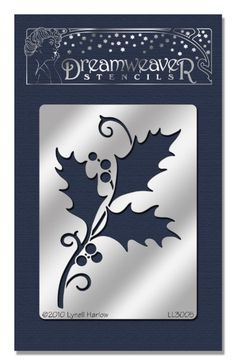 Stampedous Dreamweaver Metal Stencil, Holly And Swirls