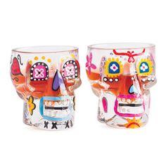 Candy skull shot glass set  https://www.facebook.com/206561477209/photos/a.10150164565282210.301303.206561477209/10151536852532210/?type=3&theater