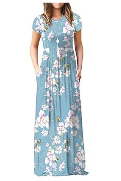 Shop a great selection of DEARCASE Women Short Sleeve Loose Plain Maxi Dresses Casual Long Dresses Pockets. Find new offer and Similar products for DEARCASE Women Short Sleeve Loose Plain Maxi Dresses Casual Long Dresses Pockets. Maxi Dress With Sleeves, Floral Maxi Dress, Boho Dress, Dress Up, Maxi Dresses, Long Dresses, Flower Dresses, Spring Dresses, Casual Dresses For Women