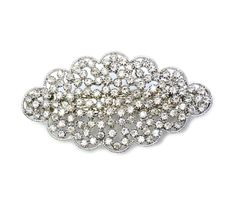 Faship Gorgeous Clear Floral Hair Barrette Clip * Click image for more details.