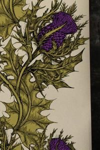 Grand Thistle Hand-Print Wallpaper