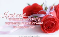 I just want to thank you for being my reason to look forward to the next day.  #day #forward #look #love #next #quotes #reason #thank #want