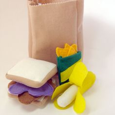 Peanut Butter and Jelly Lunch Sack Toy