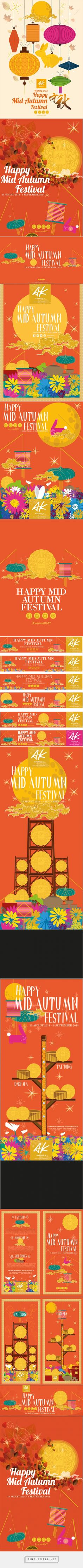 AK Mid Autumn Festival Draft on Behance... - a grouped images picture - Pin Them All