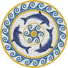 Mosaic Look Pool Art