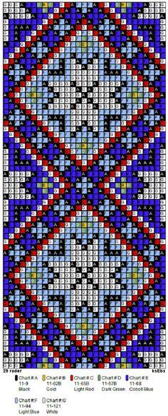 Perlesøm på stramei, bunad. – Vevstua Bull-Sveen Bead Loom Patterns, Beading Patterns, Cross Stitch Patterns, Loom Beading, Bead Weaving, Diagram, Jewelry Making, Texture, Embroidery
