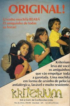 Ursinho Mochila #infância #nostalgia