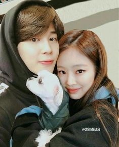 Jimin x Jennie Foto Jimin, Jimin Jungkook, Taehyung, Swag Couples, Kpop Couples, Bts Girl, Bts Boys, Friend Pictures, Bts Pictures