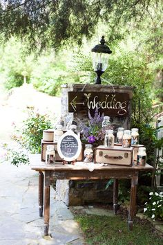 Great Outdoor Vignette - Vintage rustic wedding the collection