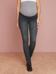 06e16abc47be9 Colline Maternity Slim Strech Jeans Grey Size 44 UK 16 rrp 29 DH089 FF 08 #