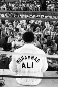 Greatest of all time. Ali