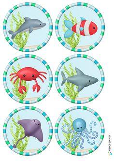 * Deze zeedieren kun je voor vele doeleinden gebruiken.... memorie, zoek iemand die, puzzelen.... 3-4