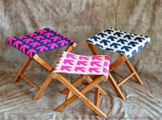 Craft Tutorials Galore at Crafter-holic!: Folding Camp Stools