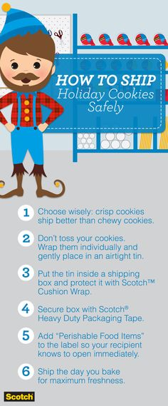 When it comes to shipping during the holiday season, don& shy away from taking extra precautions to make sure your gifts arrive safely and in one piece. Christmas Goodies, Christmas Treats, Christmas And New Year, All Things Christmas, Christmas Holidays, Xmas, Holiday Baking, Christmas Baking, Holiday Fun