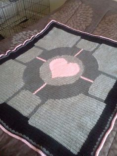 Picture of How to Crochet a Portal Companion Cube Throw Blanket