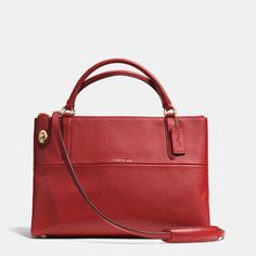 Turnlock Borough Bag in Pebbled Leather