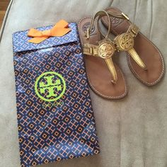 Tory Burch Sandals Gold Tory Burch sandals. Only have worn a couple times, don't fit me anymore! Tory Burch Shoes Sandals