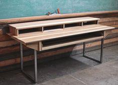 Studio Desk for Audio / Video / Film / Graphic Design, Large 88key / 84w X 32d X modern-desks-and-hutches